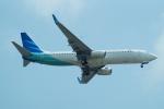 FRTさんが、スワンナプーム国際空港で撮影したガルーダ・インドネシア航空 737-8U3の航空フォト(飛行機 写真・画像)