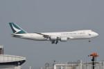 kuro2059さんが、香港国際空港で撮影したキャセイパシフィック航空 747-867F/SCDの航空フォト(飛行機 写真・画像)