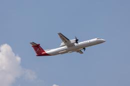 こーいちさんが、トリブバン国際空港で撮影したシェリー・エアラインズ DHC-8-402Q Dash 8の航空フォト(飛行機 写真・画像)
