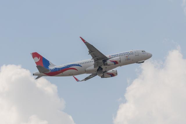 こーいちさんが、トリブバン国際空港で撮影したネパール航空 A320-233の航空フォト(飛行機 写真・画像)