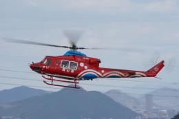 神宮寺ももさんが、高松空港で撮影した岡山県消防防災航空隊 412EPの航空フォト(飛行機 写真・画像)