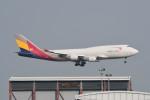 kuro2059さんが、香港国際空港で撮影したアシアナ航空 747-419(BDSF)の航空フォト(飛行機 写真・画像)