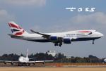 tassさんが、成田国際空港で撮影したブリティッシュ・エアウェイズ 747-436の航空フォト(飛行機 写真・画像)