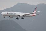 だいすけさんが、香港国際空港で撮影したアメリカン航空 777-323/ERの航空フォト(飛行機 写真・画像)