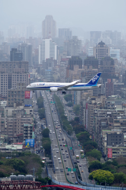 ppuw43さんが、台北松山空港で撮影した全日空 787-8 Dreamlinerの航空フォト(飛行機 写真・画像)