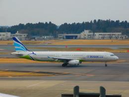 京成本線沿線民(KS3035F)さんが、成田国際空港で撮影したエアプサン A321-231の航空フォト(飛行機 写真・画像)