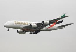 garrettさんが、台湾桃園国際空港で撮影したエミレーツ航空 A380-861の航空フォト(飛行機 写真・画像)