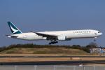 やつはしさんが、成田国際空港で撮影したキャセイパシフィック航空 777-31Hの航空フォト(飛行機 写真・画像)