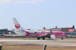 Yuseiさんが、福岡空港で撮影した日本トランスオーシャン航空 737-8Q3の航空フォト(飛行機 写真・画像)