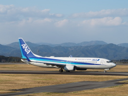 VEZEL 1500Xさんが、静岡空港で撮影した全日空 737-881の航空フォト(飛行機 写真・画像)