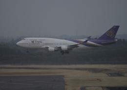 銀苺さんが、成田国際空港で撮影したタイ国際航空 747-4D7の航空フォト(飛行機 写真・画像)