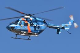 ブルーさんさんが、名古屋飛行場で撮影した秋田県警察 BK117C-1の航空フォト(飛行機 写真・画像)