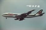 tassさんが、成田国際空港で撮影したアリタリア航空 747-243F/SCDの航空フォト(飛行機 写真・画像)