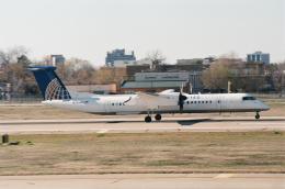 ゴンタさんが、ダラス・ラブフィールド空港で撮影したコルガン・エア DHC-8-402Q Dash 8の航空フォト(飛行機 写真・画像)