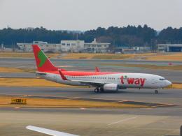 さんまるエアラインさんが、成田国際空港で撮影したティーウェイ航空 737-8KGの航空フォト(飛行機 写真・画像)