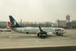 delawakaさんが、大連周水子国際空港で撮影した山東航空 737-85Nの航空フォト(飛行機 写真・画像)