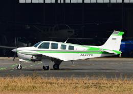 じーく。さんが、八尾空港で撮影したエアロスペースナガノ A36 Bonanza 36の航空フォト(飛行機 写真・画像)