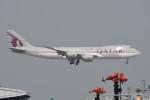 kuro2059さんが、香港国際空港で撮影したカタール航空カーゴ 747-87UF/SCDの航空フォト(飛行機 写真・画像)