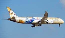Seiiさんが、シンガポール・チャンギ国際空港で撮影したエティハド航空 787-9の航空フォト(飛行機 写真・画像)