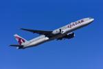 Frankspotterさんが、フランクフルト国際空港で撮影したカタール航空 777-3DZ/ERの航空フォト(飛行機 写真・画像)