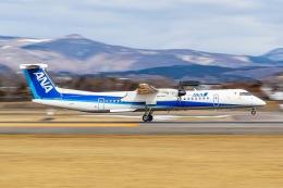 KAMIYA JASDFさんが、函館空港で撮影したANAウイングス DHC-8-402Q Dash 8の航空フォト(飛行機 写真・画像)