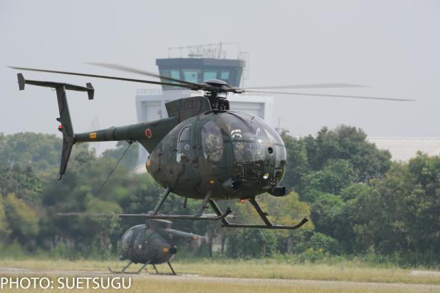JL6DXRさんが、目達原駐屯地で撮影した陸上自衛隊 OH-6Dの航空フォト(飛行機 写真・画像)