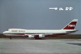 tassさんが、パリ シャルル・ド・ゴール国際空港で撮影したトランス・ワールド航空 747-136の航空フォト(飛行機 写真・画像)