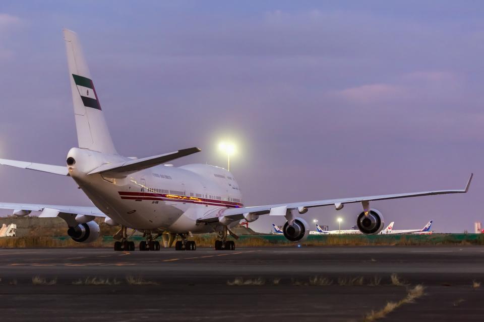 mameshibaさんのドバイ・ロイヤル・エア・ウィング Boeing 747-400 (A6-HRM) 航空フォト