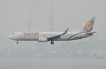 LEGACY-747さんが、香港国際空港で撮影したミャンマー・ナショナル・エアウェイズ 737-86Nの航空フォト(飛行機 写真・画像)