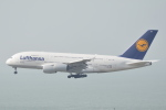 LEGACY-747さんが、香港国際空港で撮影したルフトハンザドイツ航空 A380-841の航空フォト(飛行機 写真・画像)