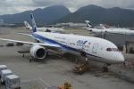 LEGACY-747さんが、香港国際空港で撮影した全日空 787-9の航空フォト(飛行機 写真・画像)