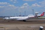 KAZKAZさんが、羽田空港で撮影したトヨタファイナンス Gulfstream G650ER (G-VI)の航空フォト(飛行機 写真・画像)