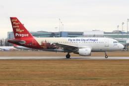 BTYUTAさんが、ヴァーツラフ・ハヴェル・プラハ国際空港で撮影したチェコ航空 A319-112の航空フォト(飛行機 写真・画像)