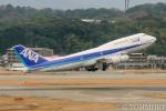 遠森一郎さんが、福岡空港で撮影した全日空 747-481(D)の航空フォト(飛行機 写真・画像)