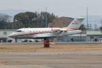 髪刈虫(かみきりむし)さんが、名古屋飛行場で撮影したHornbill Airways CL-600-2B16 Challenger 605の航空フォト(飛行機 写真・画像)