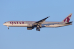 mameshibaさんが、成田国際空港で撮影したカタール航空 777-3DZ/ERの航空フォト(飛行機 写真・画像)