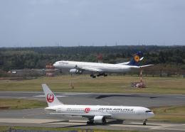 銀苺さんが、成田国際空港で撮影したルフトハンザドイツ航空 A340-642の航空フォト(飛行機 写真・画像)