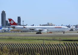 銀苺さんが、成田国際空港で撮影したスイスインターナショナルエアラインズ A340-313の航空フォト(飛行機 写真・画像)