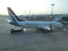 ヒロリンさんが、シンガポール・チャンギ国際空港で撮影したシルクエア 737-8SAの航空フォト(飛行機 写真・画像)