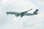 OMAさんが、シンガポール・チャンギ国際空港で撮影したキャセイパシフィック航空 A350-941XWBの航空フォト(飛行機 写真・画像)