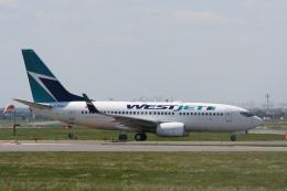NIKEさんが、トロント・ピアソン国際空港で撮影したウェストジェット 737-7CTの航空フォト(飛行機 写真・画像)