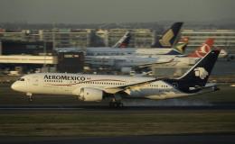 planetさんが、ロンドン・ヒースロー空港で撮影したアエロメヒコ航空 787-8 Dreamlinerの航空フォト(飛行機 写真・画像)