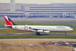 ちっとろむさんが、羽田空港で撮影したフィリピン航空 A340-313Xの航空フォト(飛行機 写真・画像)