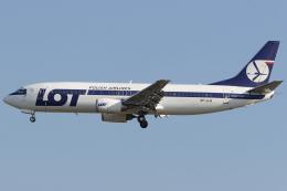 Hariboさんが、フランクフルト国際空港で撮影したLOTポーランド航空 737-45Dの航空フォト(飛行機 写真・画像)