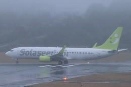 ゆう改めてさんが、熊本空港で撮影したソラシド エア 737-81Dの航空フォト(飛行機 写真・画像)