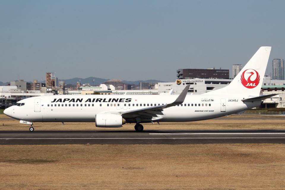 セブンさんの日本航空 Boeing 737-800 (JA345J) 航空フォト