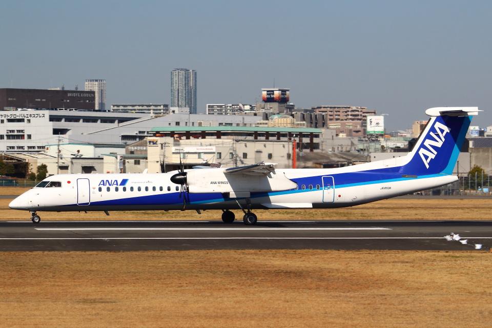 セブンさんのANAウイングス Bombardier DHC-8-400 (JA853A) 航空フォト
