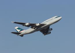 銀苺さんが、成田国際空港で撮影したキャセイパシフィック航空 747-467(BCF)の航空フォト(飛行機 写真・画像)