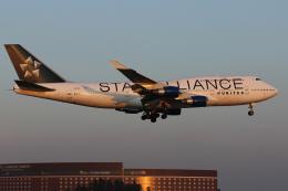 銀苺さんが、成田国際空港で撮影したユナイテッド航空 747-422の航空フォト(飛行機 写真・画像)