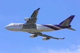 メンチカツさんが、成田国際空港で撮影したタイ国際航空 747-4D7の航空フォト(飛行機 写真・画像)